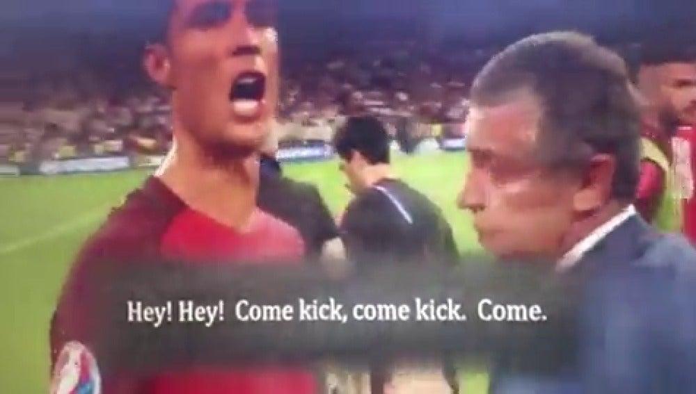 """Frame 0.536924 de: El vídeo que demuestra el liderazgo de Cristiano Ronaldo en Portugal: """"¡Si perdemos, que así sea!"""""""