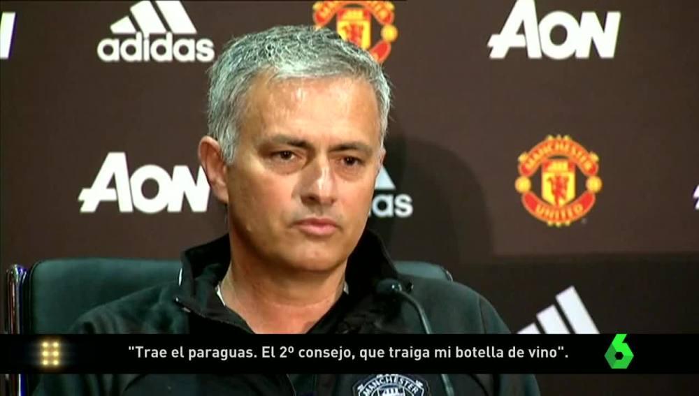 Mourinho en su presentación en el United
