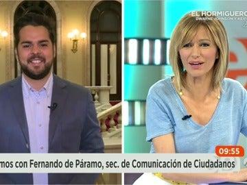 """Frame 9.787619 de:  Fernando de Páramo: """"Si nos llama Rajoy, acudiremos a esa reunión y le plantearemos la necesidad de una mesa a tres"""""""