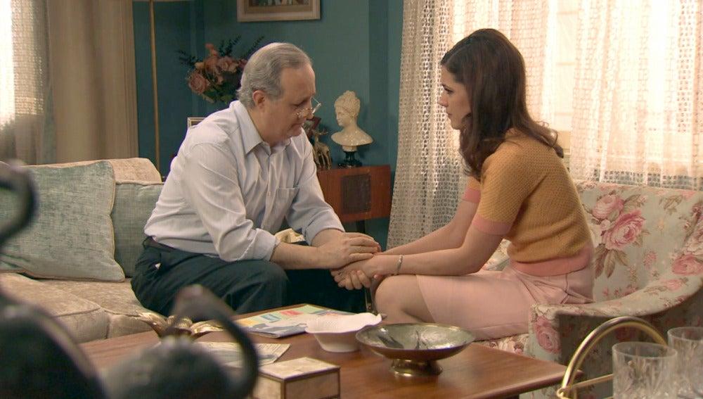 Sofía le cuenta a Pelayo su plan