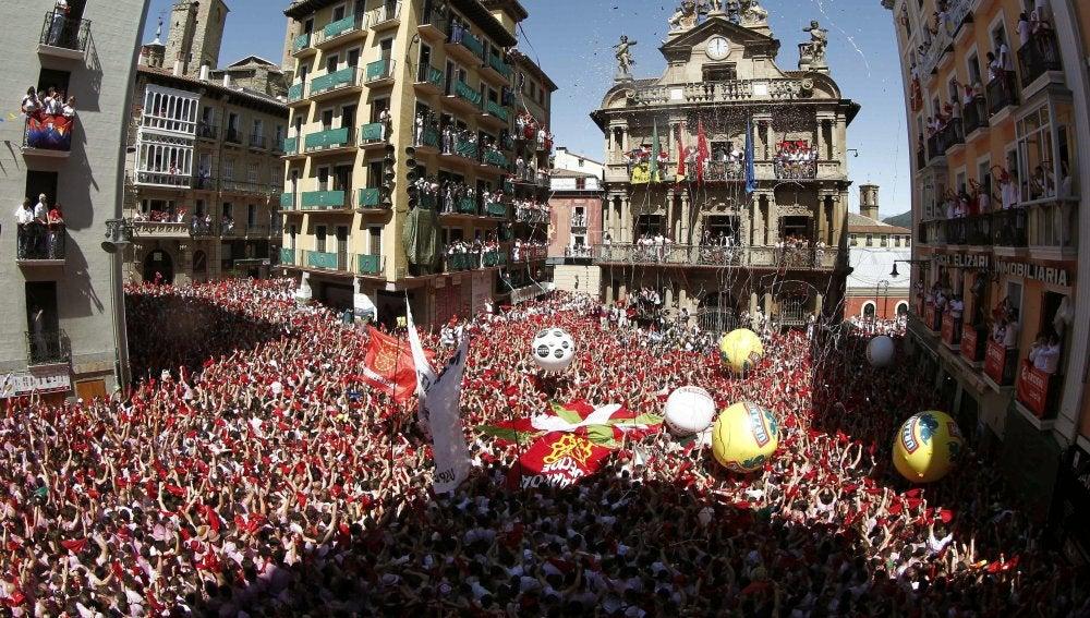 Chupinazo en Pamplona
