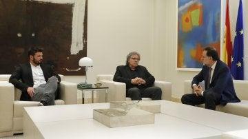 Rajoy reunido con Joan Tardá y Gabriel Rufián