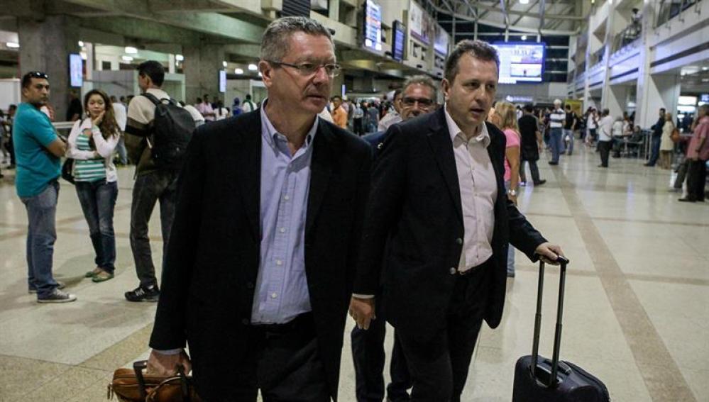 Gallardón, a su llegada a Venezuela.