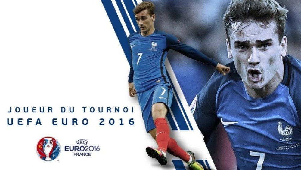 Griezmann, mejor jugador de la Eurocopa