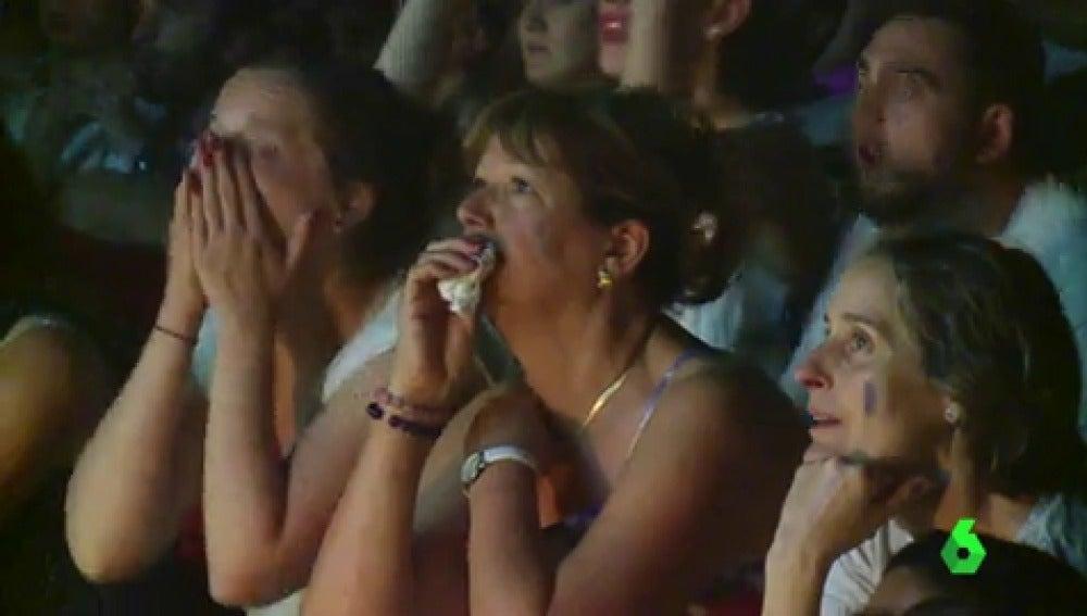 """Los franceses, """"abatidos"""" por la derrota en la final de la Eurocopa"""