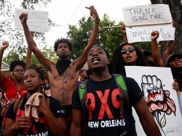 Manifestantes en Baton Rouge