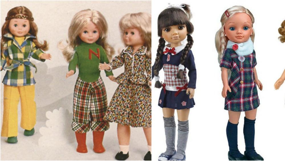 La muñeca Nancy en 1968 y en la actualidad