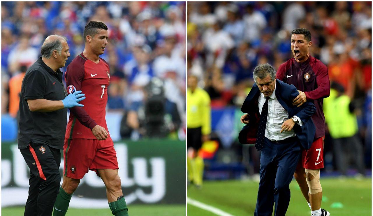Las dos caras de Cristiano Ronaldo en la final de la Eurocopa