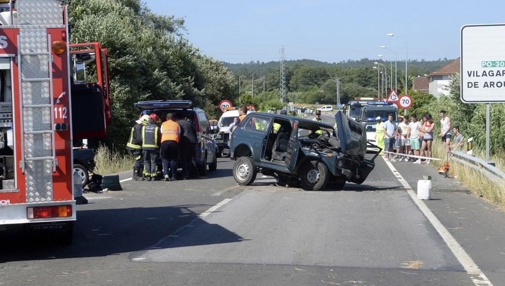 Un accidente de tráfico en Pontevedra