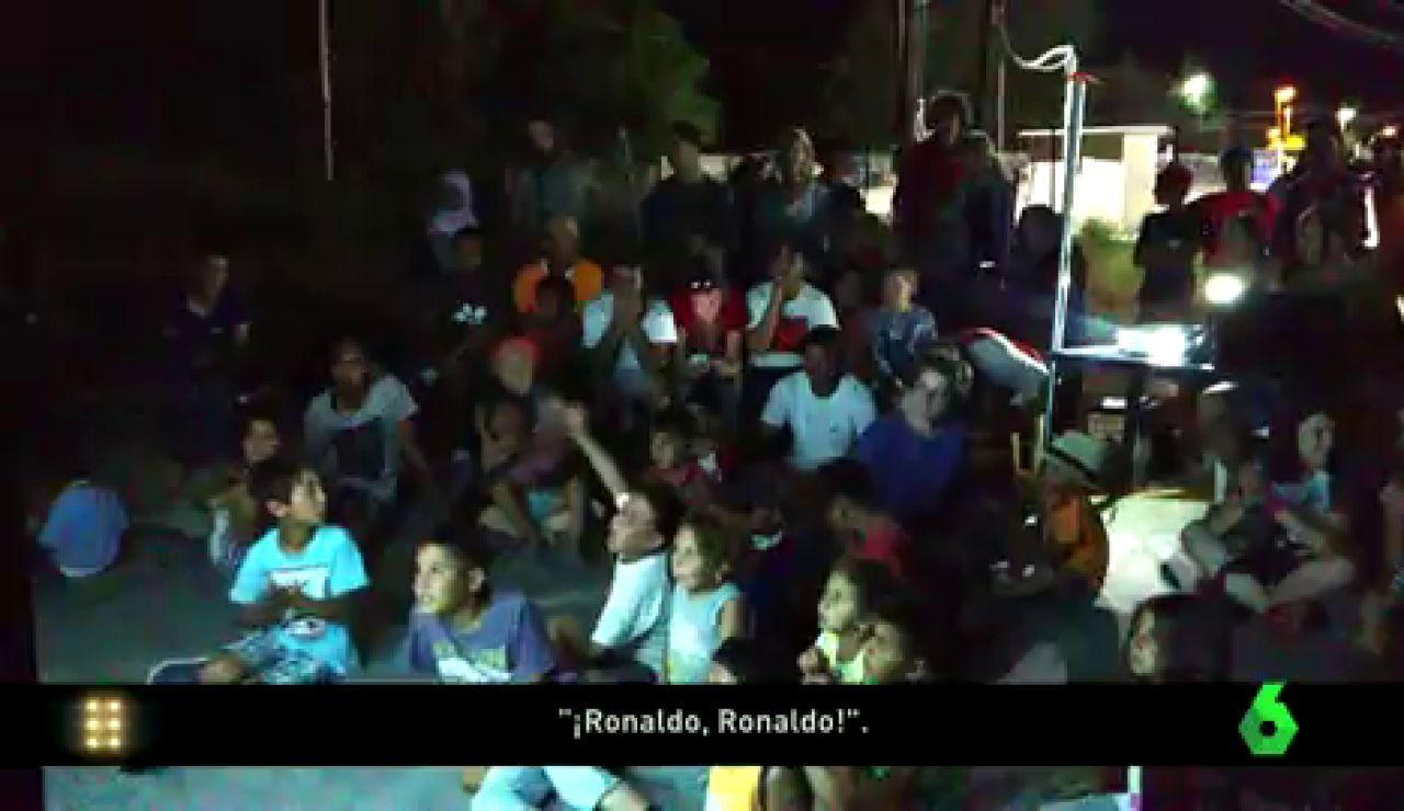Así se vivió la final de la Eurocopa en un campo de refugiados