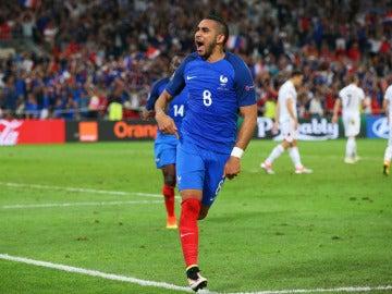 Payet celebrando un gol en la Eurocopa