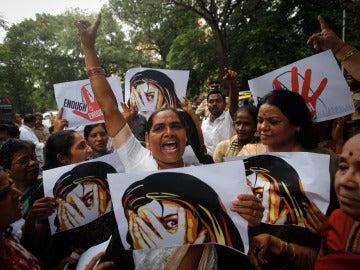 Protesta contra las violaciones en la India