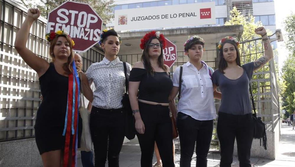 Líderes de la agrupación Femen en España.
