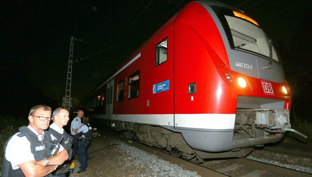 Agresión tren Alemania