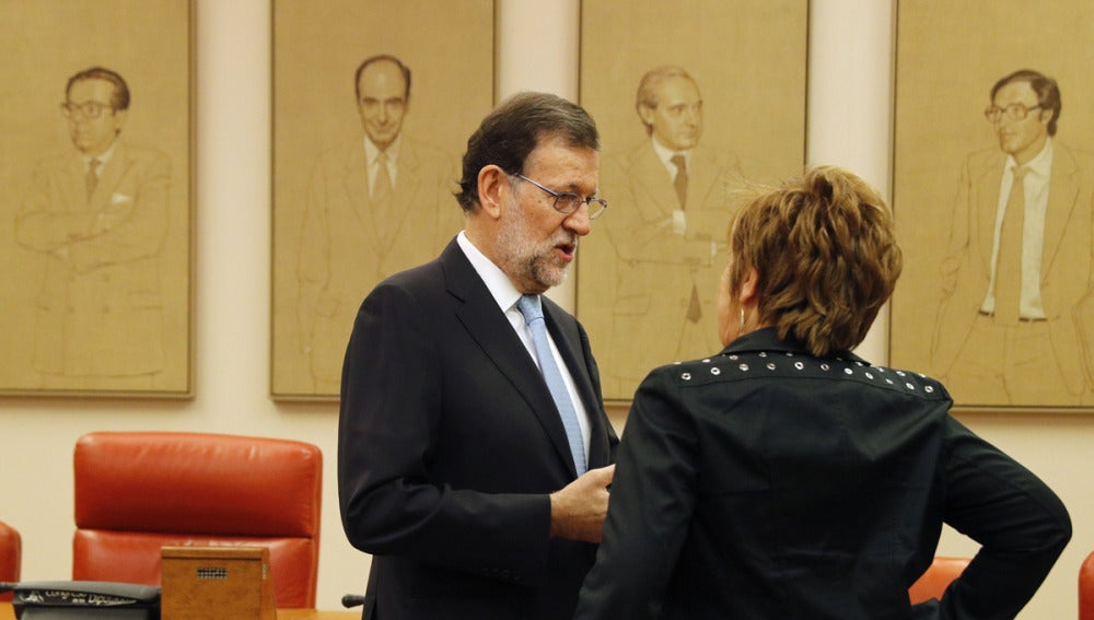 Rajoy y Celia Villalobos