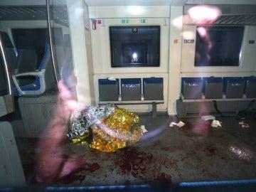 Fotografía desde el interior de uno de los vagones atacados