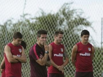 Simeone, en la pretemporada del Atlético