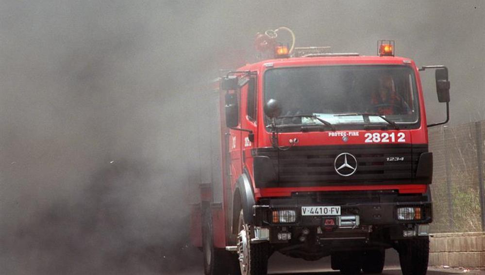 Incendio en una fábrica de productos químicos