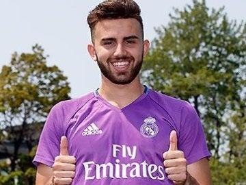 Borja Mayoral, durante la pretemporada del Real Madrid