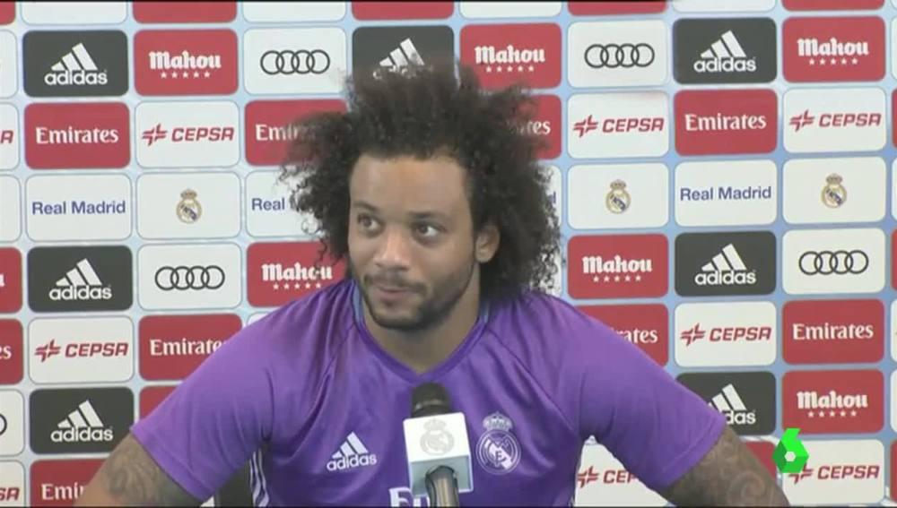 Marcelo bromea sobre la lesión de CR7