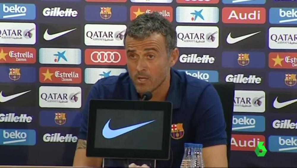 Luis Enrique habla sobre la condena a Messi