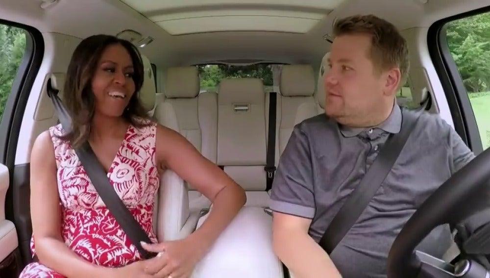 Frame 278.013653 de: Michelle Obama se atreve con el Carpool Karaoke de James Corden