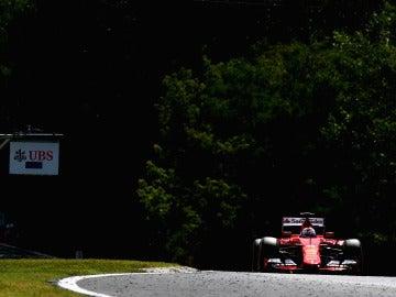 Vettel, en el GP de Hungría de la temporada pasada