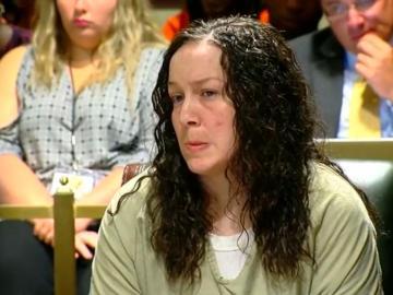 April Corcoran, en el banquillo de los acusados.
