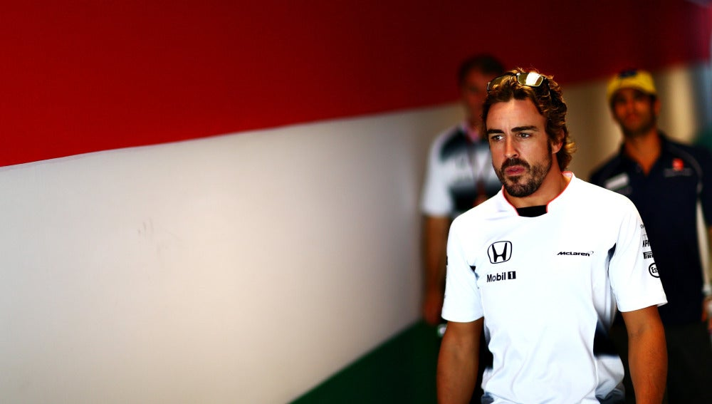 Fernando Alonso, en el circuito de Hungaroring