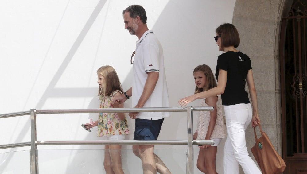 La Familia Real en sus vacaciones en Mallorca en 2015.