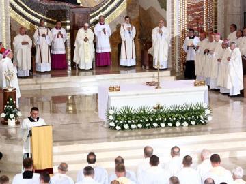 El Papa Francisco en el santuario de Juan Pablo II