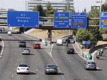 Salida de Madrid durante la segunda operación especial de la DGT del verano.