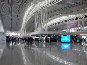 Terminal del aeropuerto  de china de Changsha.