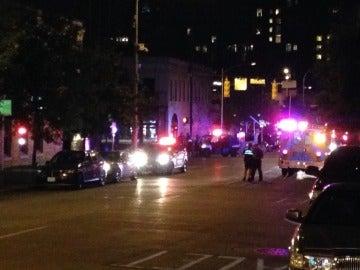 La Policía en la zona del tiroteo
