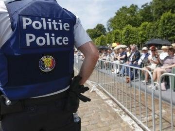 Policía belga durante la celebración de la Fiesta Nacional