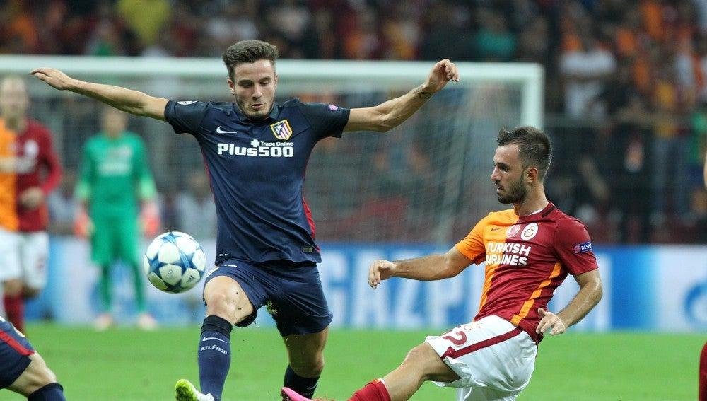 Atlético y Galatasaray en un partido de Champions