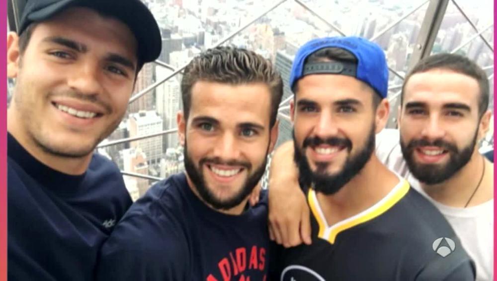 Los jugadores del Madrid en el Empire State de Nueva York