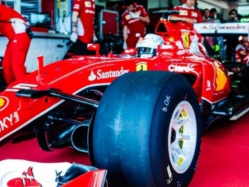 Vettel estrena los Pirelli en Fiorano