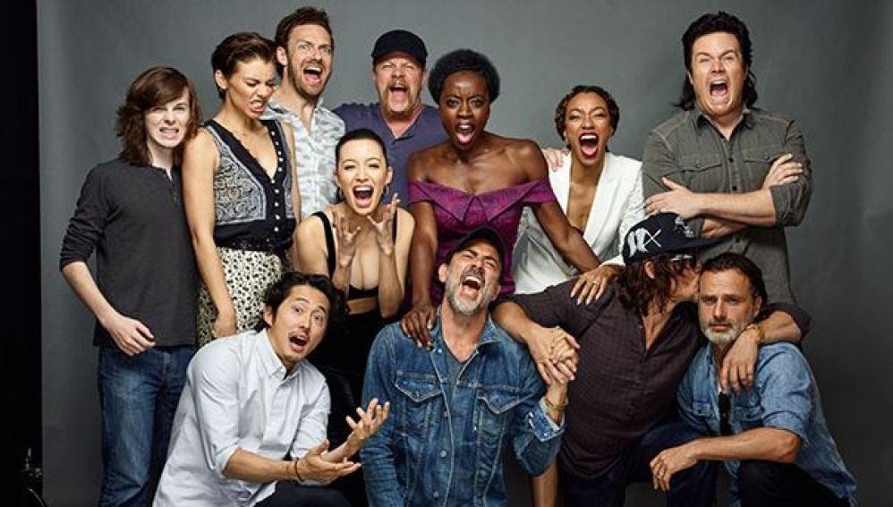 El reparto de 'The Walking Dead' se venga de Negan