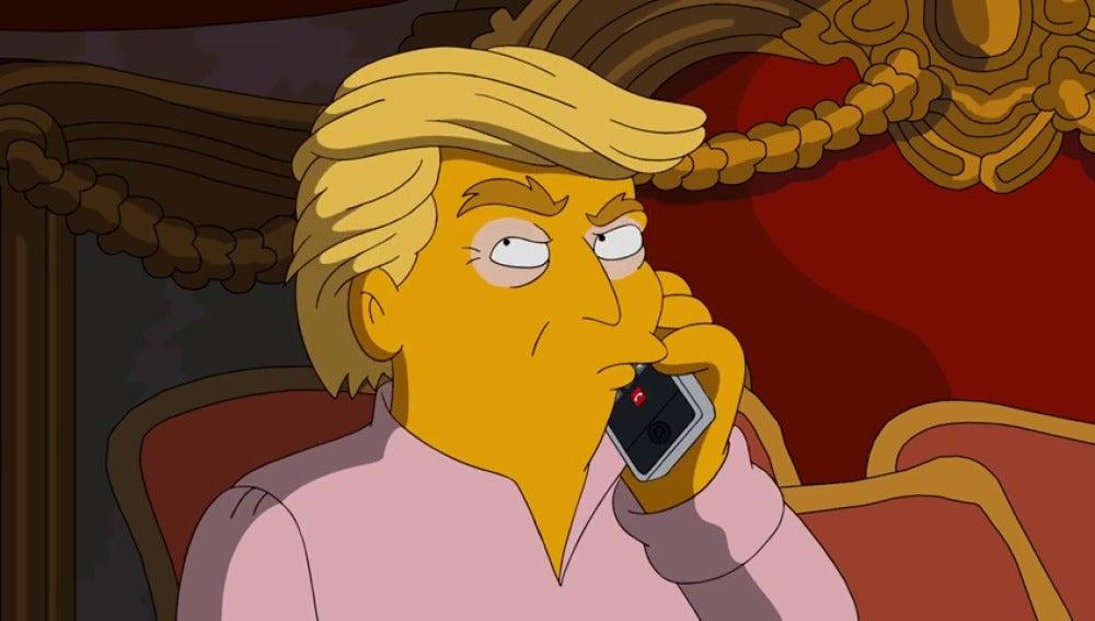 Frame 78.834131 de: 'Los Simpson' se burlan de Trum y descubren el secreto de su melena rubia