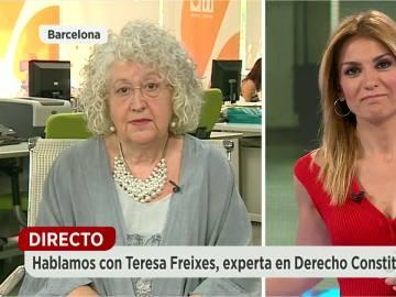 """Teresa Freixes: """"El TC podría suspender de cargo e imponer multas hasta 30.000€ a quién tenga responsabilidad en desacato"""""""