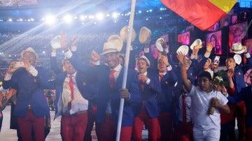 Rafa Nadal fue uno de los protagonistas de la gala de inauguración de Río 2016