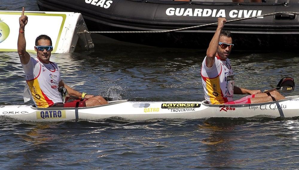 Bouzán y Fiuza ganan el 80º Descenso del Sella