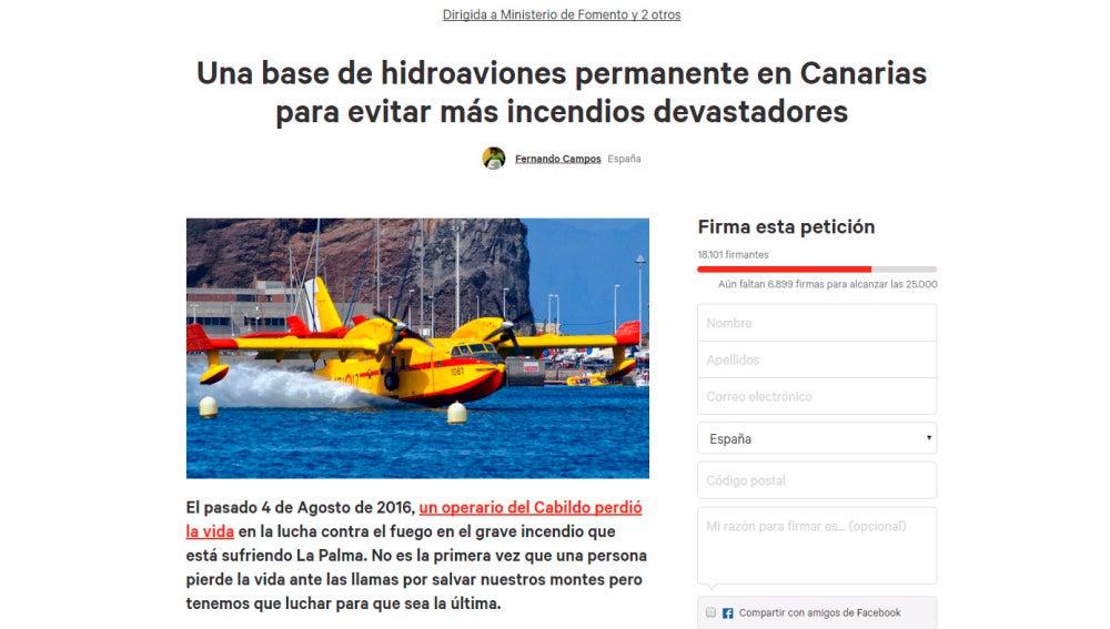 Solicitud para una base de hidroaviones permanente en Canarias