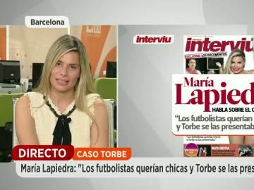 """María Lapiedra: """"Los futbolistas querían chicas y Torbe se las presentaba"""""""