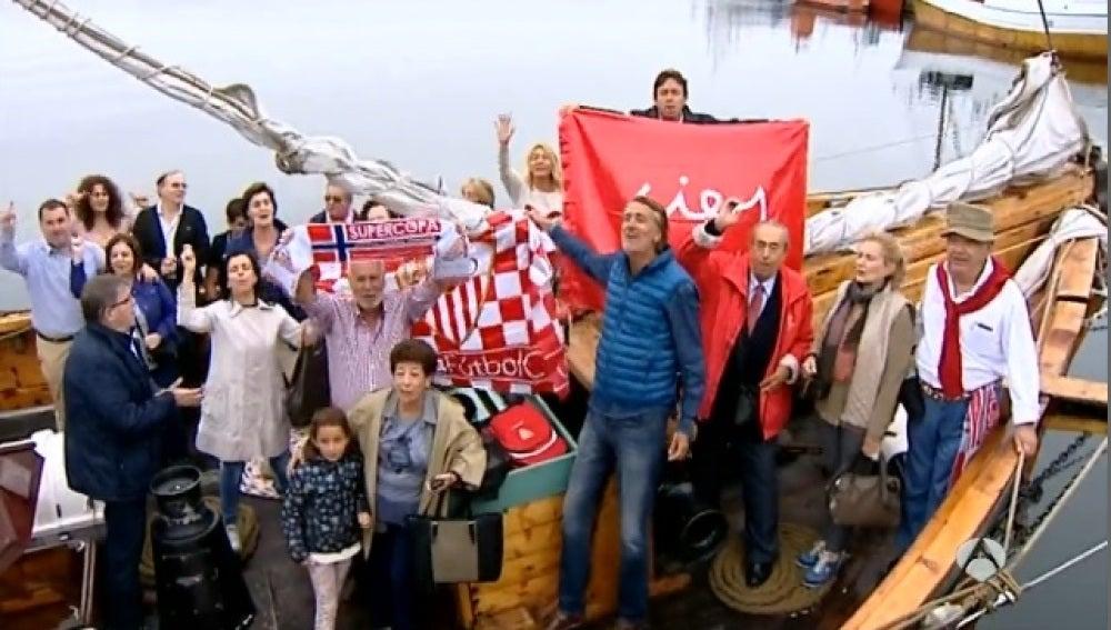 La afición del Sevilla FC ya está en Noruega