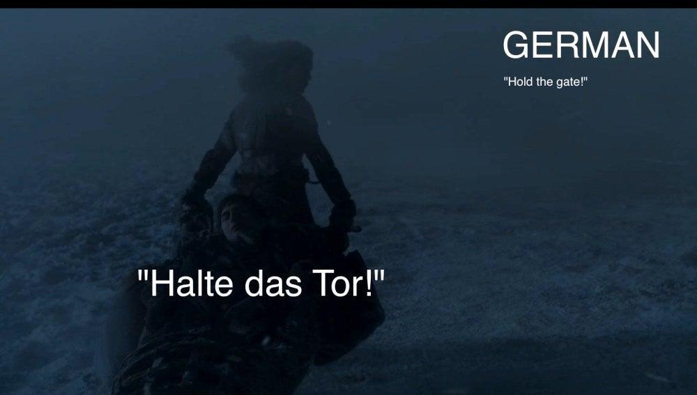 'Hold the door' en alemán