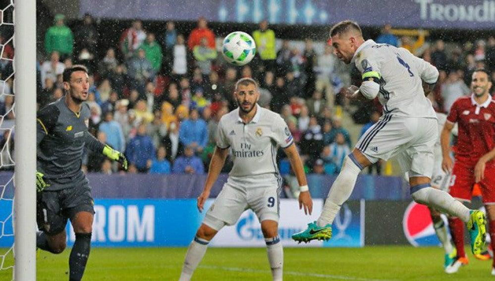 Ramos marca el 2-2 en el minuto 93