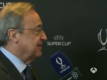 Florentino Pérez tras la Supercopa de Europa