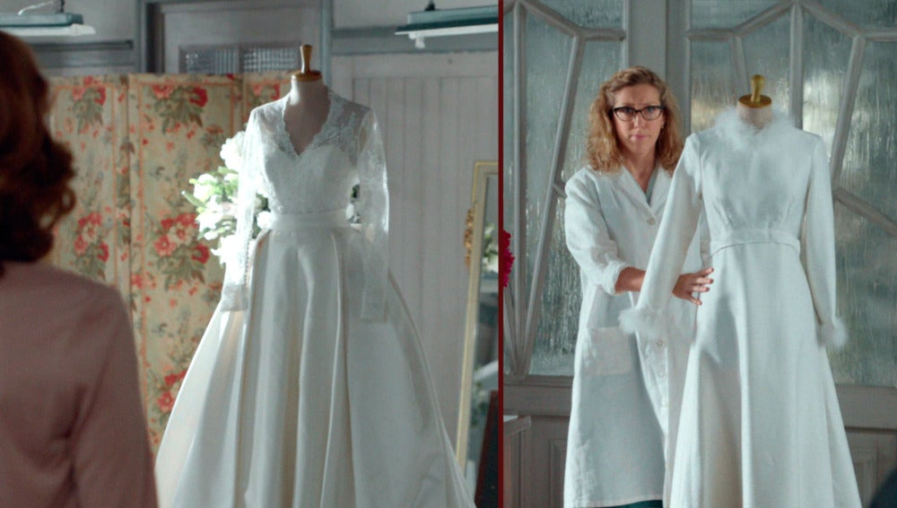 Cristina se emociona al descubrir su vestido de novia definitivo